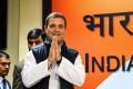 Rahul Gandhi arrives for a post-election press conference. Photo: AFP