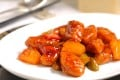 The sweet and sour 'pork' dish we created at Ming Court was a vegan alternative made with Omnipork, a plant-based protein pork substitute which is antibiotic-, hormone- and cruelty-free.