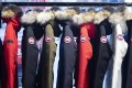 Parkas hang on display at a Canada Goose store in Montreal. Photo: Bloomberg