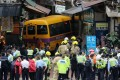 Four people were killed and 11 others injured when an unmanned school bus rolled 100 metres down a North Point street in Hong Kong this month. Photo: Dickson Lee