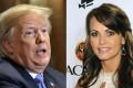 US President Donald Trump and 'Playboy' model Karen McDougal. Photo: Agence France-Presse