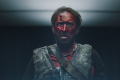 Nicolas Cage in a still from Mandy, in which his lumberjack character takes revenge on a hippie cult for the death of his lover.