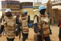 File photo of UN peacekeepers from Congo Brazaville walking through Bangui, Central African Republic. Photo: AP