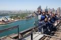 Climbers atop the Sydney Harbour Bridge. Picture: Alamy