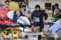 Elderly patients wait in the Accident and Emergency Department of Queen Elizabeth Hospital in Yau Ma Tei in February. Photo: Dickson Lee