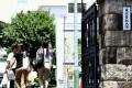 A file photo of people walking into Tokyo Medical University. Photo: AP