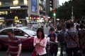 Huaqiangbei Commercial Street in Shenzhen. The city has been dubbed the 'Silicon Valley of hardware'. Photo: AFP