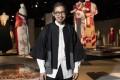 Fashion designer Akira Isogawa at the exhibition of his work in Sydney's Powerhouse Museum. Photo: Jay Patel