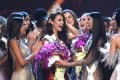Catriona Gray of the Philippines (centre). Photo: AFP