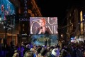 J.K. Rowling addresses the crowd at the London premiere of Fantastic Beasts: The Crimes of Grindelwald, in November. Picture: Alamy