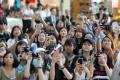 K-pop fans at Hong Kong International Airport. Photo: Roy Issa