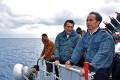 Indonesian President Joko Widodo on a warship near the Natuna Islands. Photo: Handout