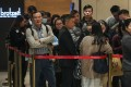 Prospective homebuyers queue for the Grand Central exhibition on December 18, 2018. Photo: Nora Tam