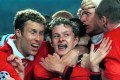 Manchester United's Ole Gunnar Solskjaer after scoring the winning goal in the 1999 Champions League final. Photo: Reuters