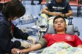 Students volunteer to donate blood at the University of Hong Kong. Photo: Dickson Lee