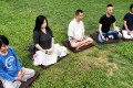 Hong Kong residents attend a mindfulness retreat camp in Wu Kai Sha, Ma On Shan, by Zen master Thich Nhat Hanh. Photo: Thomas Yau