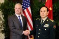 US Defence Secretary James Mattis maintained a cordial and working personal relationship with his Chinese counterpart General Wei Fenghe. Photo: AFP