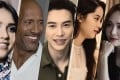 Some of the celebrities Style talked to this year: (from left) Jessica Alba, Dwayne 'The Rock' Johnson, Lawrence Wong, Ouyang Nana and Jessica Jung.