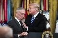 President Donald Trump and Secretary of Defence James Mattis at a reception in October. Photo: Washington Post photo by Jabin Botsford