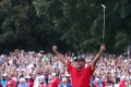 Tiger Woods wins the Tour Championship in Atlanta, Georgia. Photo: AFP