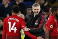 Manchester United caretaker manager Ole Gunnar Solskjaer celebrates after the win against Cardiff. Photo: Reuters