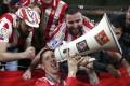 Fernando Torres celebrates winning the 2018 Uefa Europa League. Photo: AP
