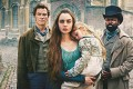 Dominic West, Lily Collins and David Oyelowo in a still from BBC's adaptation of Victor Hugo's Les Miserables. Photo: BBC