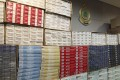 The contraband cigarettes seized from January to November 2018 would have cost the government HK$38 million in taxes. Photo: Dickson Lee