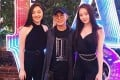 Jet Li (centre) with his daughters Jane (left) and Jada. Photo: Instagram