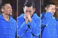 Hong Kong Canto-pop star Andy Lau breaks down on stage. Photos: Handout