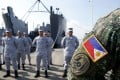 Philippine sailors pictured ahead of the Asean-China joint exercise in May. Photo: AP