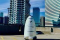A real-life robotic crime-fighter, the Knightscope K5, is already in use by companies such as Microsoft and Uber in the United States, to patrol car parks and large outdoor areas.