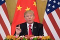 President Donald Trump rarely addresses religious freedom or human rights, and when it comes to China he focuses mainly on Beijing's trade practices. Photo: AFP