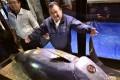 Kiyoshi Kimura, president of sushi restaurant chain Sushi-Zanmai, with his US$3.1 million tuna. Photo: AFP