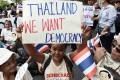 Demonstrators protest against military junta rule in Bangkok on May 22, 2018. Photo: AFP