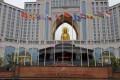 The giant golden Buddha at the Quanjian International Hotel in Jiangsu, China, has come under scrutiny as part of the public scandal rocking the health product company. Photo: Baidu.com