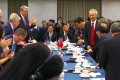Vice-Premier Liu He pictured with the US delegation in a leaked picture. Photo: Handout