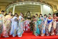 Employees of the Tokyo Stock Exchange and models in kimonos celebrate the first trading day of the year on January 4. Photo: Kyodo