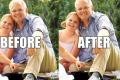 A combination photo from Twitter, highlighting the poor photoshopping of Australian Prime Minister Scott Morison's feet. Photo: Twitter