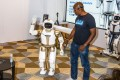 An UBTech Robotics Inc. Walker robot is demonstrated at the 2019 Consumer Electronics Show (CES) in Las Vegas. Photo: Bloomberg