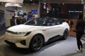 The Byton M-Byte SUV is on display at the Byton booth at CES International, Tuesday, Jan. 8, 2019, in Las Vegas. (AP Photo/John Locher)