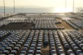New cars sit at the automobile terminal in the port of Dalian, Liaoning province, on October 18. China's auto industry has been one of the hardest hit by the country's slowdown in 2019. Photo: Reuters
