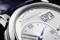 A. Lange & Söhne's limited-edition Lange 1 '25th Anniversary' timepiece sports an argenté-coloured dial in solid silver with deep-blue accents.