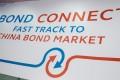 Signage for the China-Hong Kong Bond Connect is seen at the Hong Kong stock exchange in Hong Kong, China. Photo: Bloomberg