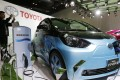 Toyota Motor's FT-EV III electric car on display during the Beijing New-Energy Automobile Industry Exhibition on 21 October 2015. Photo: EPA