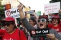 Pro-democracy demonstrators during a rally to protest the possible delay of the general election in Bangkok. Photo: EPA