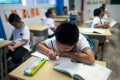 Chinese children face intense competition in the school system. Photo: AFP