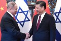 Chinese President Xi Jinping welcomes Benjamin Netanyahu to Beijing during the Israeli prime minister's visit in March 2017. Photo: Xinhua