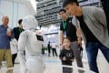 Robotics is one of the sectors that saw production fall. Photo: Xinhua