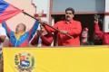 Venezuelan President Nicolas Maduro takes part in a rally in support of his government, at the Miraflores Palace, in Caracas, Venezuela, on Wednesday. Photo: Xinhua